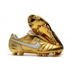 Bota de fútbol Nike Tiempo Legend R10 Elite FG - Oro Blanco