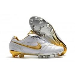 Bota de fútbol Nike Tiempo Legend r10 Elite FG - Blanco Oro