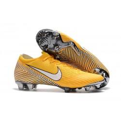 Neymar Botas de Fútbol Nike Mercurial Vapor XII FG Amarillo Blanco