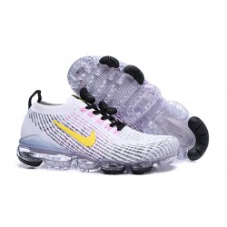 Zapatillas Nike Air VaporMax Flyknit 2019 Blanco Amarillo