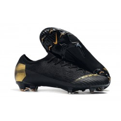 Nike Mercurial Vapor 12 Elite FG Botas Hombre Negro Oro