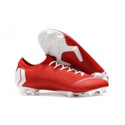 Nike Mercurial Vapor 12 Elite FG Botas Hombre Rojo Blanco
