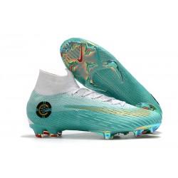 Zapatillas Ronaldo Nike Mercurial Superfly VI 360 FG - Blanco Azul
