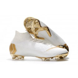 Zapatillas Nike Mercurial Superfly VI 360 FG - Blanco Oro