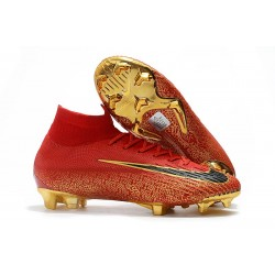 Zapatillas Ronaldo Nike Mercurial Superfly VI 360 CR7 FG - Rojo Oro