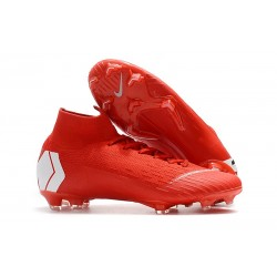 Nike Zapatos Mercurial Superfly 6 DF FG - Rosso Blanco