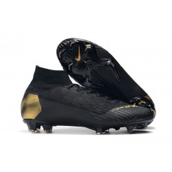 Nike Black Lux Mercurial Superfly 6 Elite FG - Negro Oro