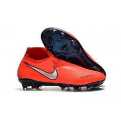 Bota de fútbol Nike Phantom Vision Elite DF FG - Rojo Naranja
