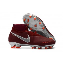 Bota de fútbol Nike Phantom Vision Elite DF FG - Rojo Metal