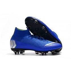 Botas De Futbol Nike Mercurial Superfly 360 Elite SG-PRO Anti-Clog Azul Metal