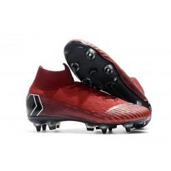 Botas De Futbol Nike Mercurial Superfly 360 Elite SG-PRO Anti-Clog Rojo Negro