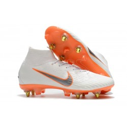 Nike Mercurial Superfly 360 Elite SG-PRO Anti-Clog Blanco Naranja