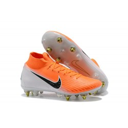 Nike Mercurial Superfly 6 Elite SG-Pro Anti-Clog Naranja Blanco
