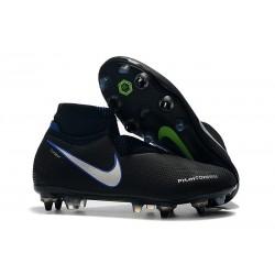 Nike Phantom Vision Elite DF SG-PRO AC Hombres - Negro Azul Plata
