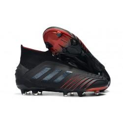 Botas adidas Predator 19+ FG para Adultos - Negro Rojo