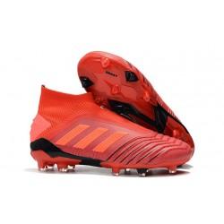 Botas adidas Predator 19+ FG para Adultos - Rojo