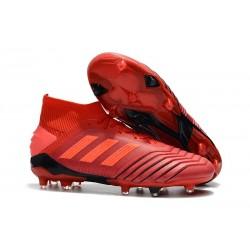 Zapatillas de Futbol adidas Predator 19.1 FG - Rojo
