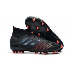 Zapatillas de Futbol adidas Predator 19.1 FG - Negro Rojo