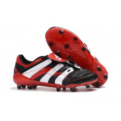 Zapatillas de Fútbol adidas Predator Accelerator FG - Negro Blanco Rojo