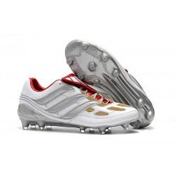 Zapatillas de Fútbol adidas Predator Accelerator FG - Gris Oro Rojo