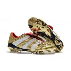 Zapatillas de Fútbol adidas Predator Accelerator FG - Oro Blanco Rojo
