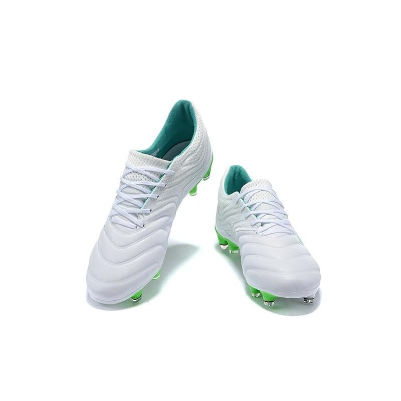 adidas Copa 19.1 FG Zapatos de Fútbol Blanco Verde