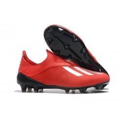 Zapatillas de Fútbol adidas X 18+ FG Rojo Plata