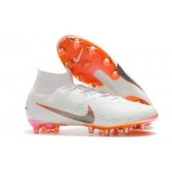 Bota Nike Mercurial Superfly 6 Elite AG Pro Blanco Naranja