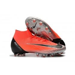 Bota Nike Mercurial Superfly 6 Elite AG Pro Rojo Negro Plata