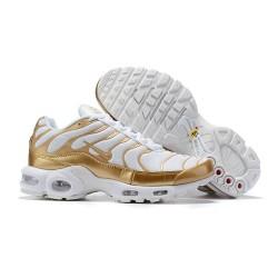 Nike Zapatos Air VaporMax Plus Hombres - Blanco Oro