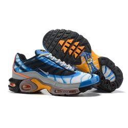 Nike Zapatos Air VaporMax Plus Hombres - Blanco Azul Gris