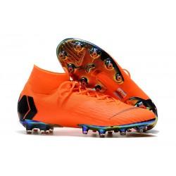 Bota Nike Mercurial Superfly 6 Elite AG Pro Naranja Negro