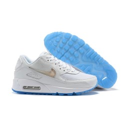 Nike Zapatos Air Max 90 Blanco Oro Azul