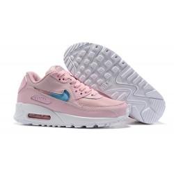 Nike Zapatos Air Max 90 Mujer Rosa Azul
