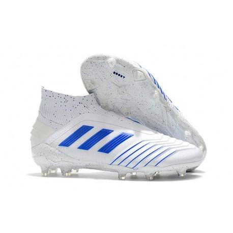 Botas adidas Predator 19+ FG Virtuso para Adultos - Blanco Azul