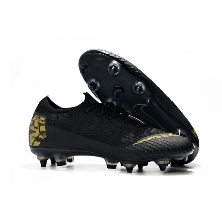 Nike Mercurial Vapor 12 Elite SG Botas Hombre Negro Or