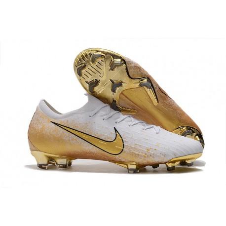 Nike Mercurial Vapor 12 Elite FG Botas Hombre Blanco Oro