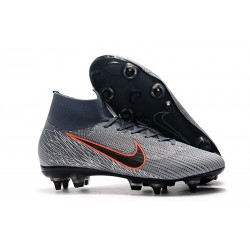 Nike Mercurial Superfly 6 Elite SG-Pro Anti-Clog Gris Negro