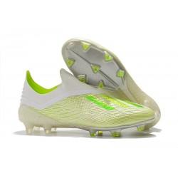 Zapatillas de Fútbol adidas X 18+ FG Blanco Verde