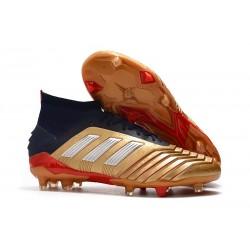 Zapatillas de Futbol adidas Predator 19.1 FG - Oro Rojo Plata