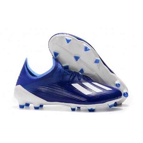 Zapatillas de fútbol adidas X 19.1 FGZapatillas de fútbol adidas X 19.1 FG Azul Blanco