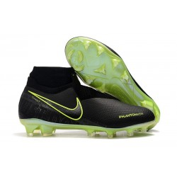 Nike Zapatillas Phantom VSN Elite DF FG - Negro Amarillo Fluorescente