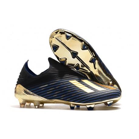 adidas X 19+ FG Bota de Fútbol Negro Azul Oro