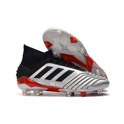 Zapatillas de Futbol adidas Predator 19.1 FG - Metal Negro Rojo