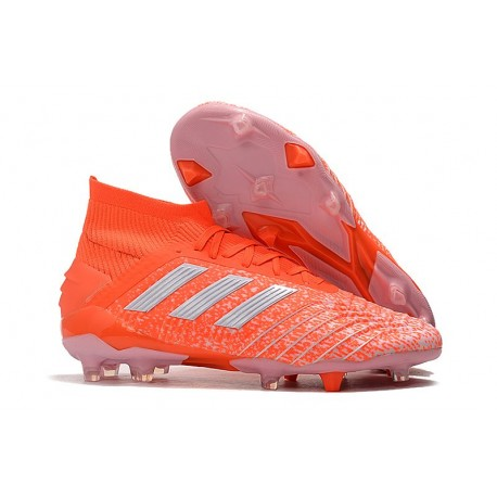 Zapatillas de Futbol adidas Predator 19.1 FG - Naranja Blanco