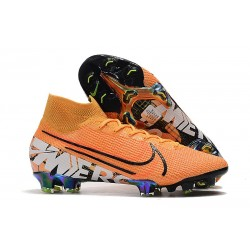 Zapatillas Nike Mercurial Superfly VII Elite FG Naranja Blanco
