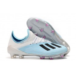 Zapatillas de fútbol adidas X 19.1 FG Blanco Azul Negro