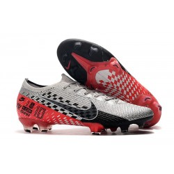 Zapatos Nike Mercurial Vapor XIII Elite FG Neymar Platino Negro Rojo
