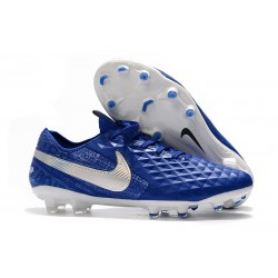 Bota de Fútbol Nike Tiempo Legend VIII Elite FG Azul Blanco