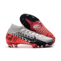 Zapatillas Nike Mercurial Superfly VII Elite FG Neymar Cromado Negro Rojo Platino